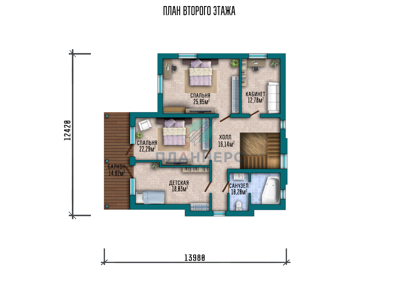 Проект дома Планнерс 107-222-2 план
