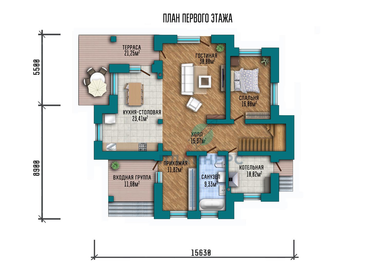 Проект дома Планнерс 076-263-1М план
