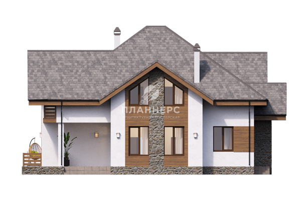Проект дома Планнерс 076-263-1М фасад