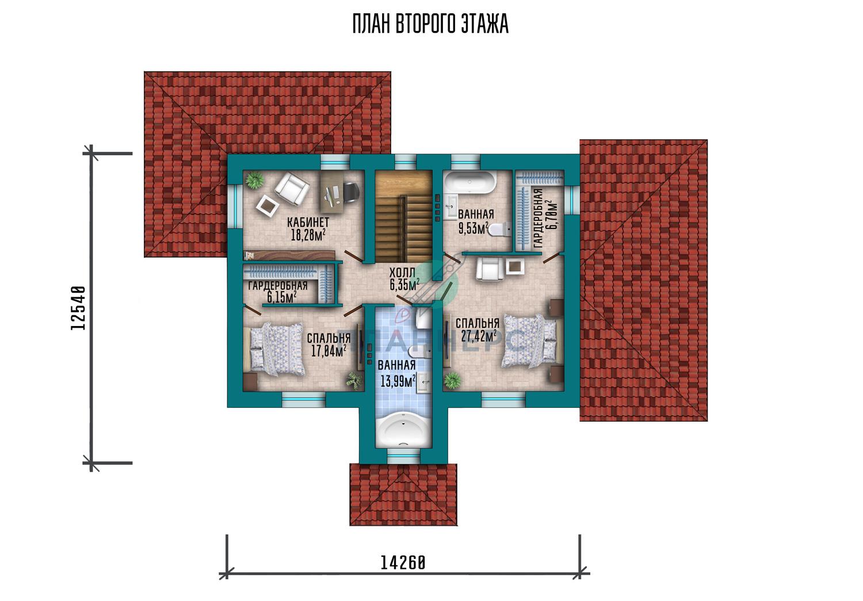 Проект дома Планнерс 056-273-2Г план