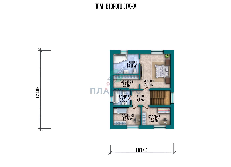 Проект дома Планнерс 108-293-2Г план