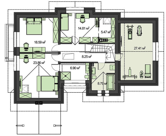 Проект дома 4m523 план
