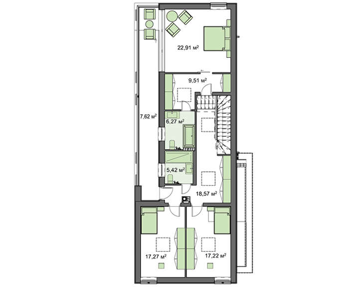 Проект дома 4m413 план