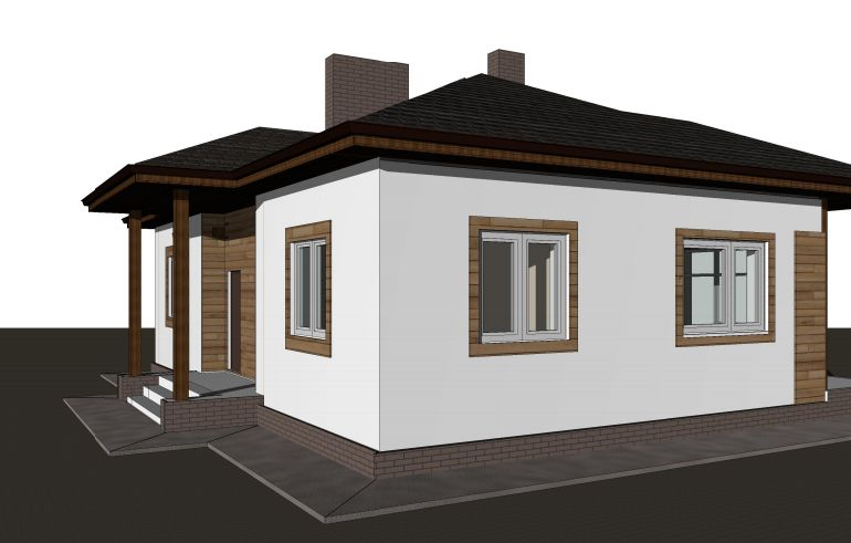 Готовый проект дома 85 кв.м // Артикул ТА-218 фасад