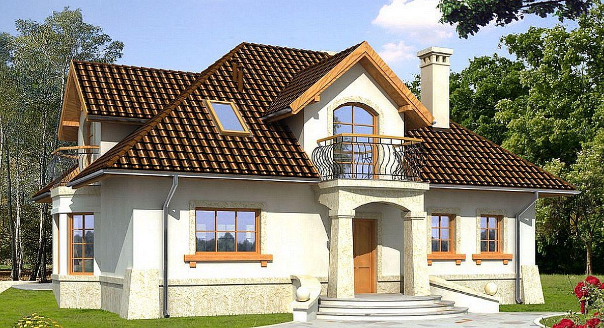 Проект дома 162 кв.м // Artikl - Polak-177 фасад