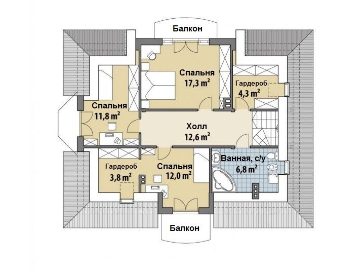 Проект дома 162 кв.м // Artikl - Polak-177 план