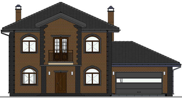Проект дома 4m1505 фасад