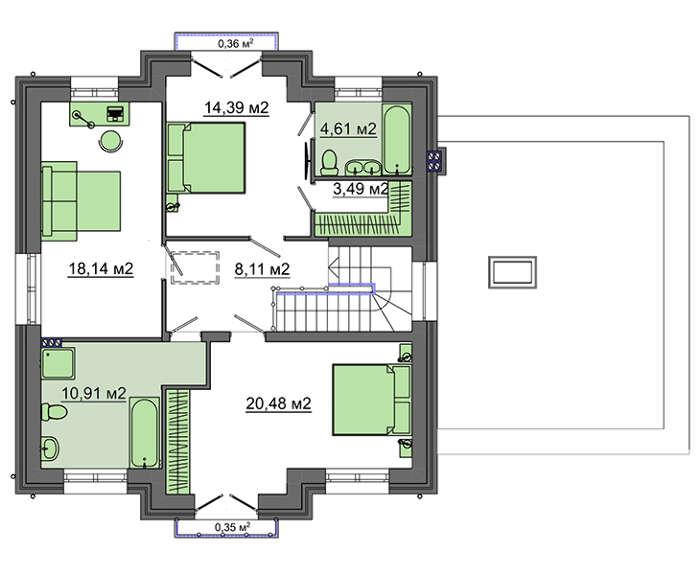 Проект дома 4m1505 план