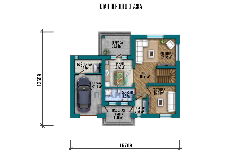 Проект Планнерс 127-204-2Г план
