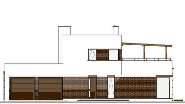 Проект дома 4m545 фасад