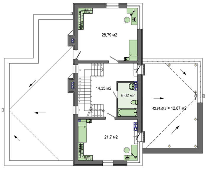 Проект дома 4m545 план