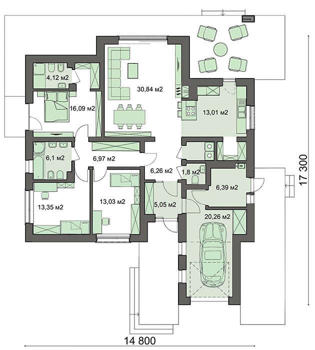 Проект дома 4m760 план