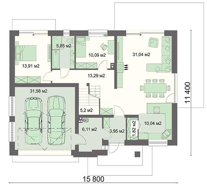Проект дома 4m749 план