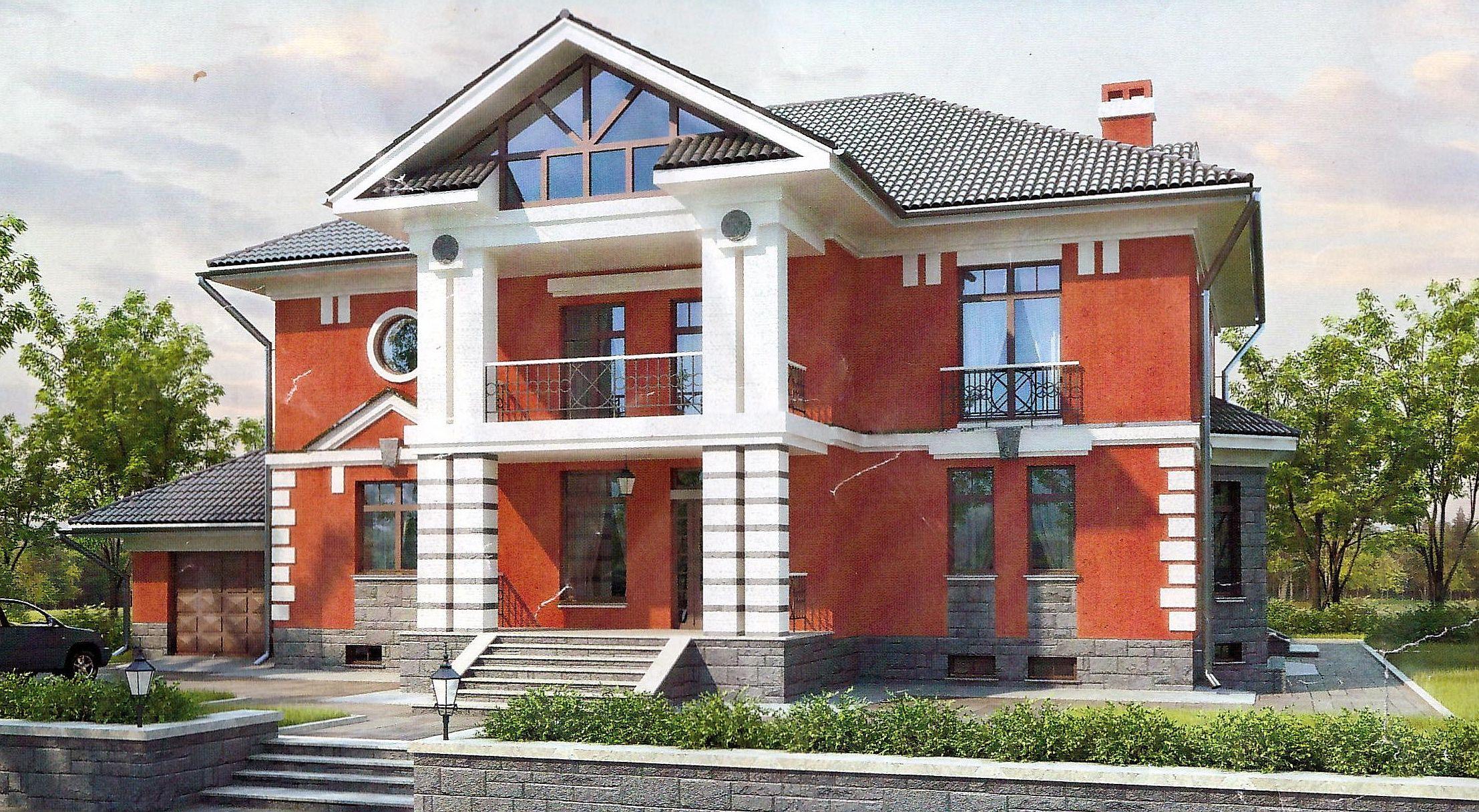 Проект дома 265 кв.м // Артикул ПФФ-220 фасад