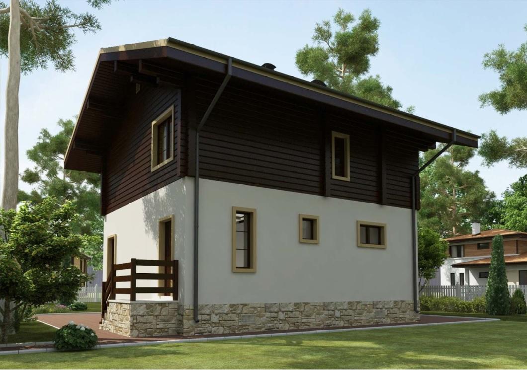 Проект дома 90 кв.м // Артикул R-42 фасад