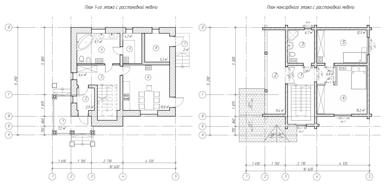 Проект дома 90 кв.м // Артикул R-42 план
