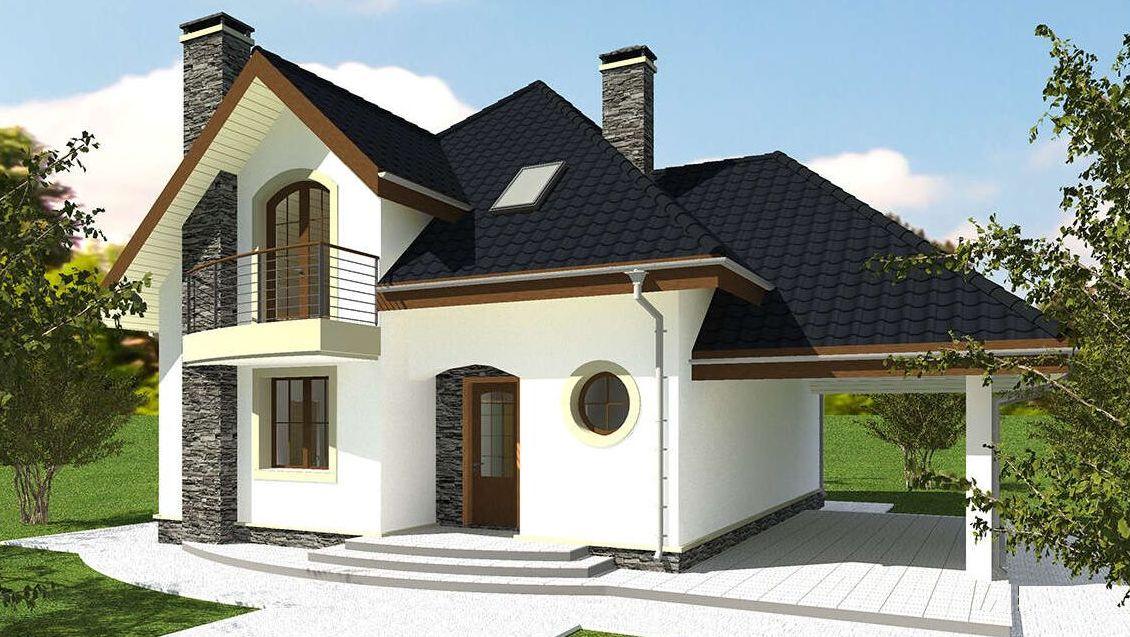 Проект дома 158 кв.м // Артикул R-53 фасад