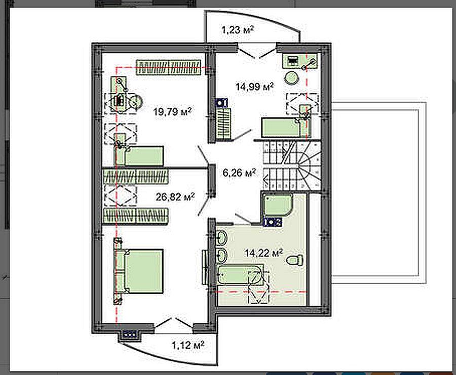 Проект дома 158 кв.м // Артикул R-53 план
