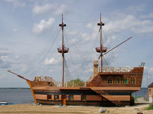 Проект дома-корабля 40-150 кв.м // Артикул R-74 фасад