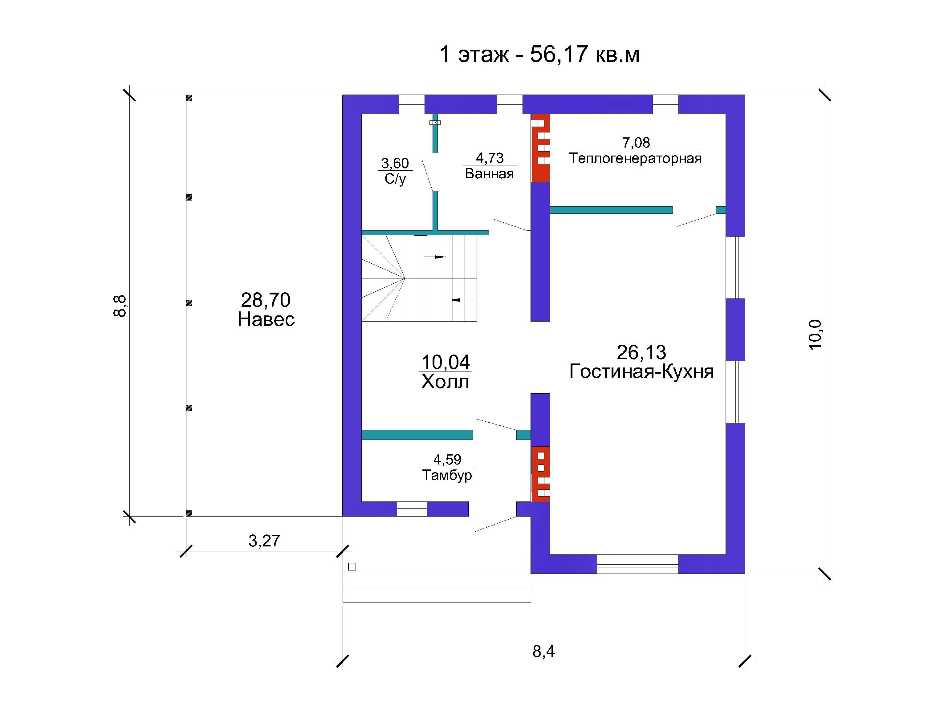 Готовый проект дома 114 кв.м // Артикул Вл-225 план