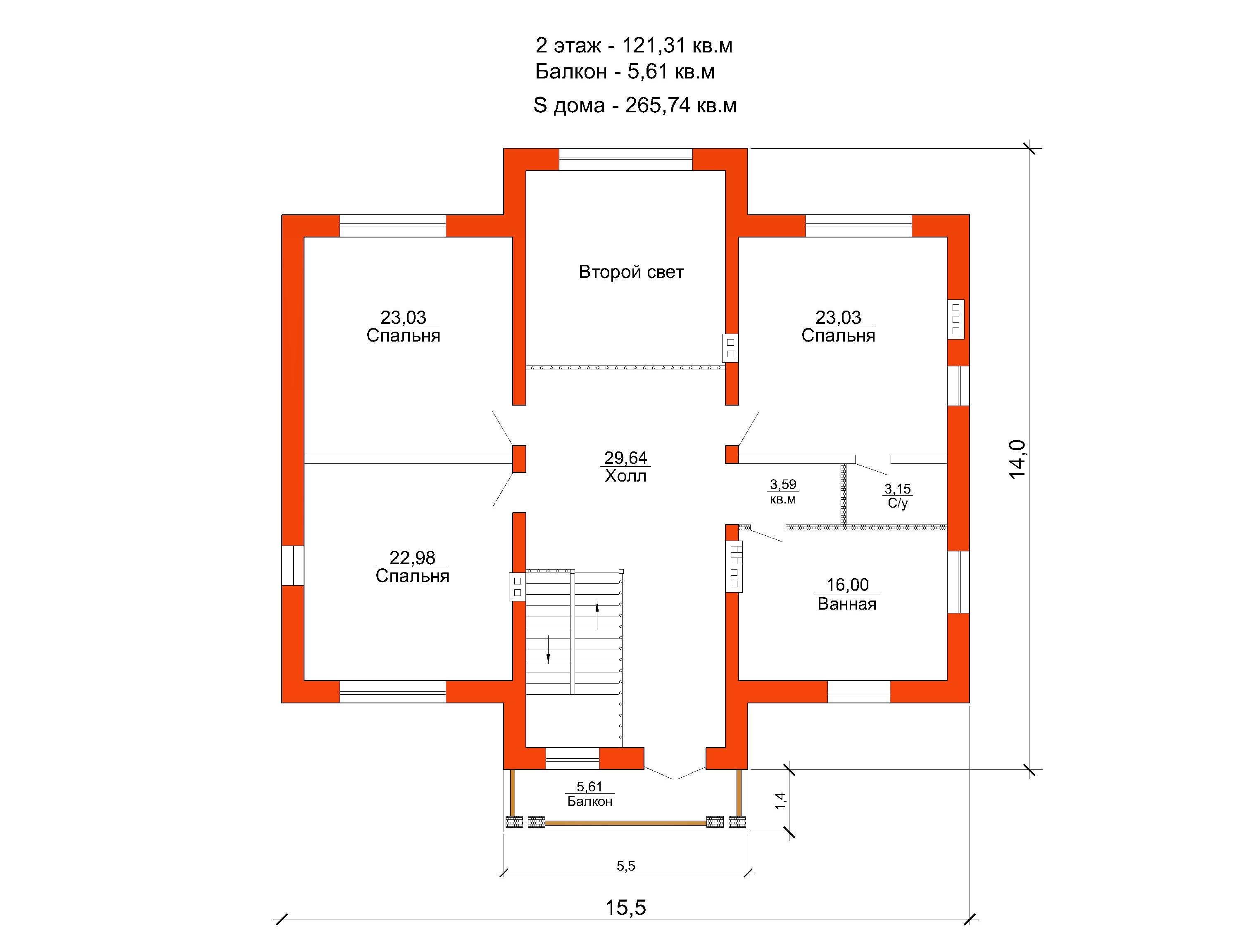 Проект дома 265 кв.м // Артикул ПФФ-220 план