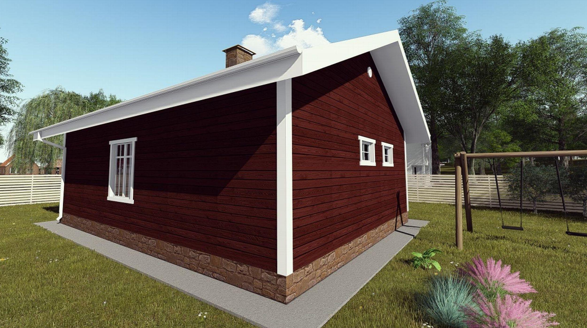 Готовый проект дома 75 кв. м / Артикул ДП-230 фасад