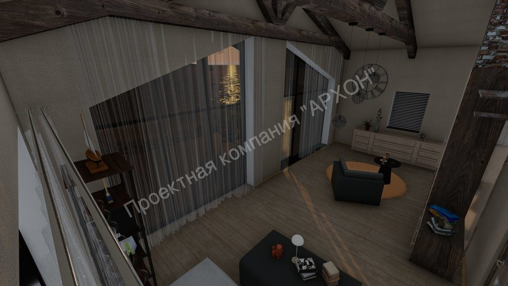 Современная баня с комнатой отдыха и террасой  план