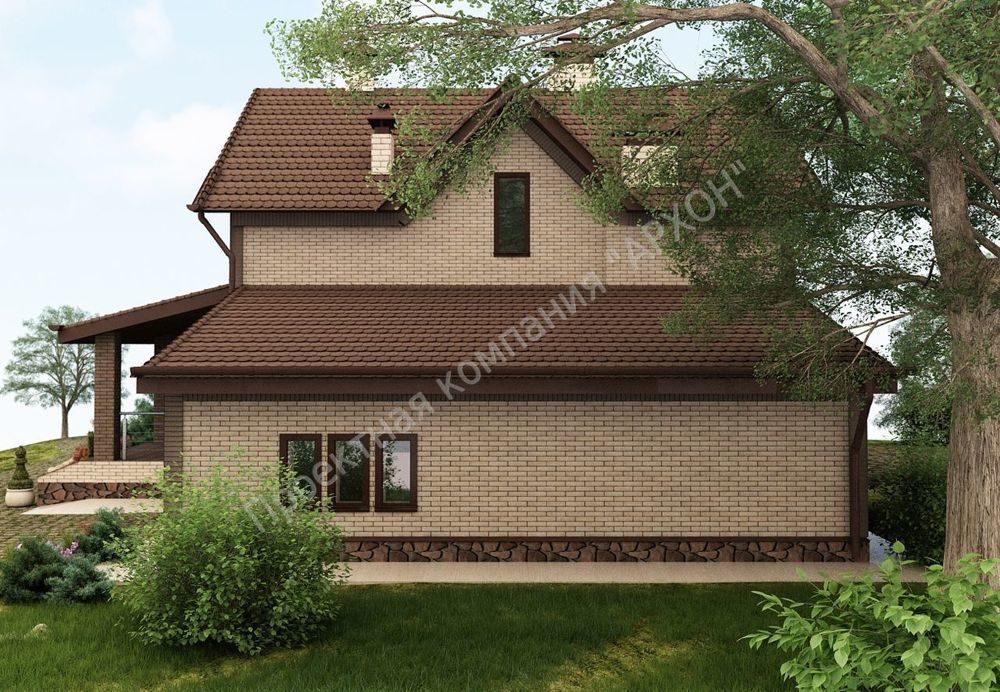 Современный 2-этажный дом с гаражом фасад