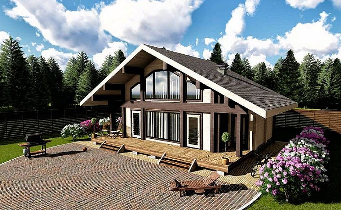 Готовый проект дома 102 кв.м // Артикул АР-234 фасад
