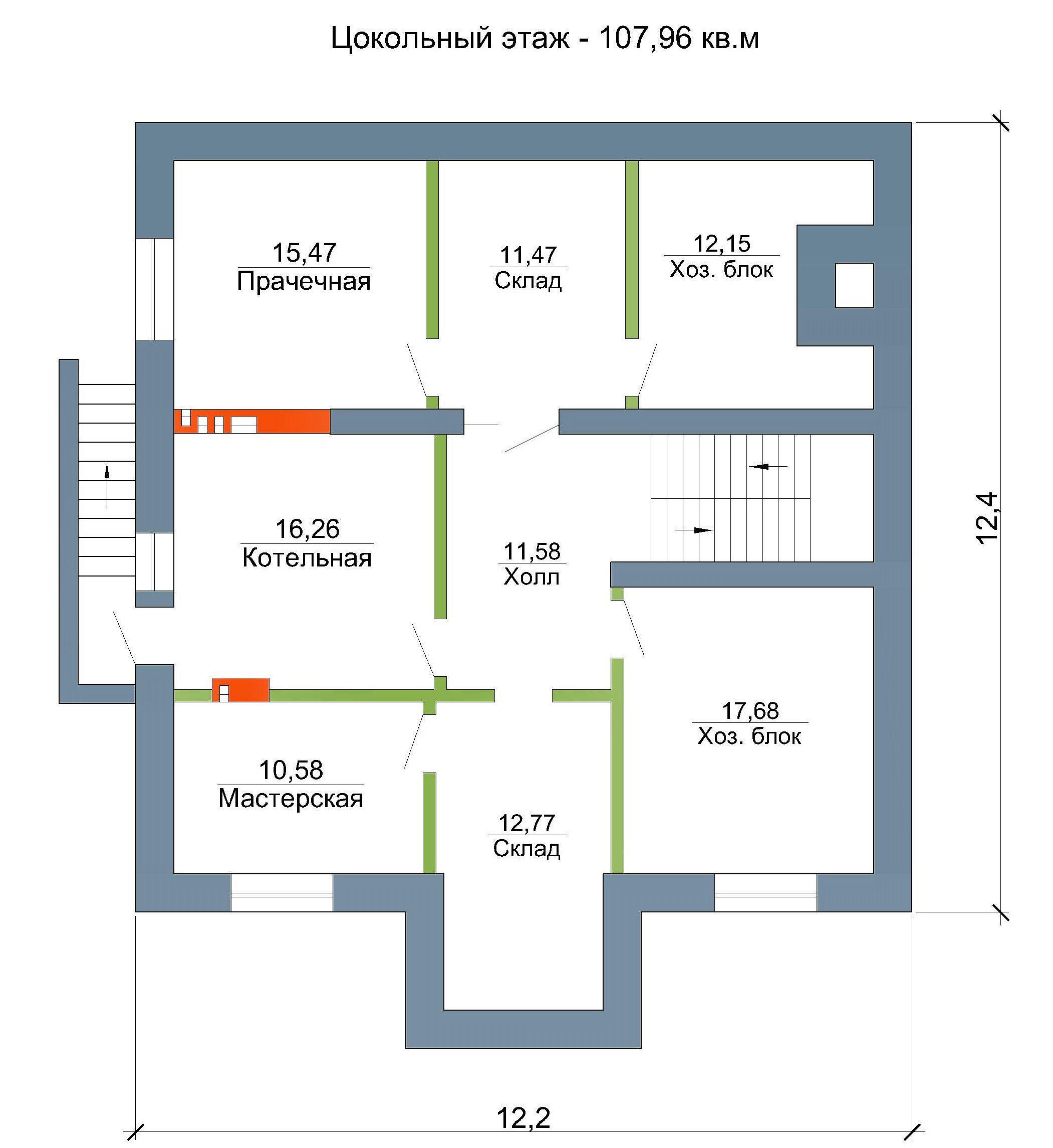 Готовый проект дома 329 кв.м // Артикул МА-233 план