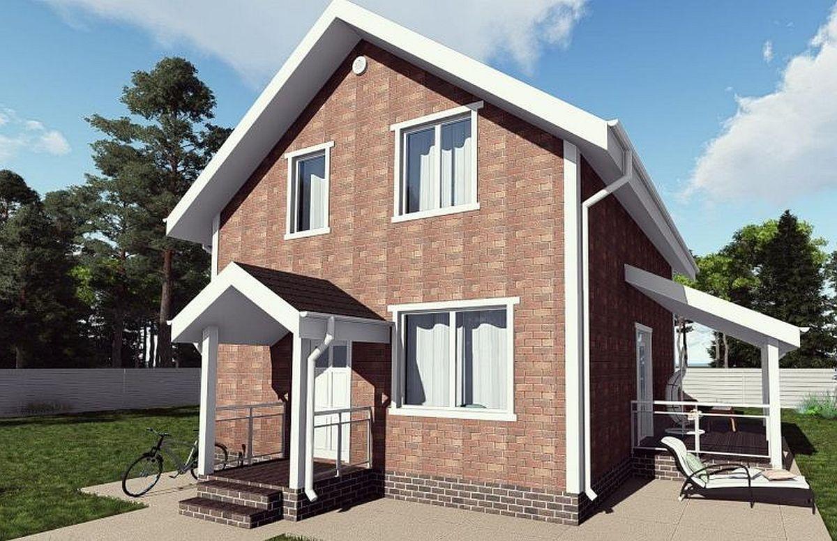 Готовый проект дома 116 кв.м // Артикул РА-236 фасад