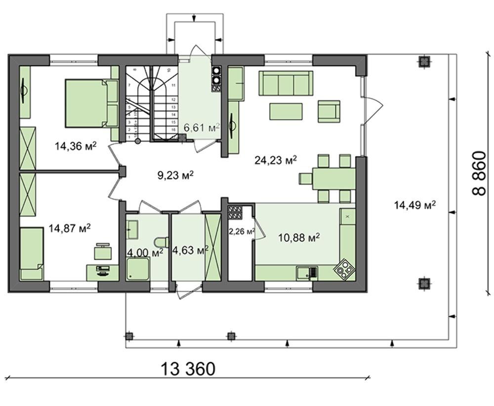 Проект дома 4m508a план