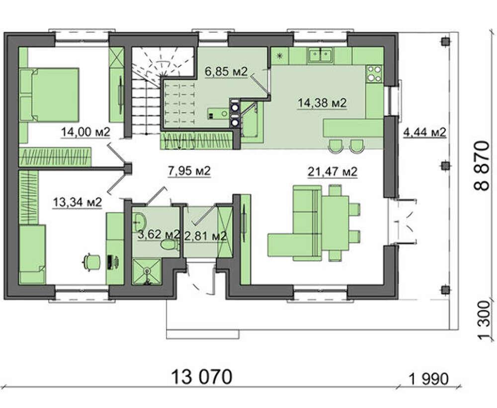 Проект дома 4m508 план