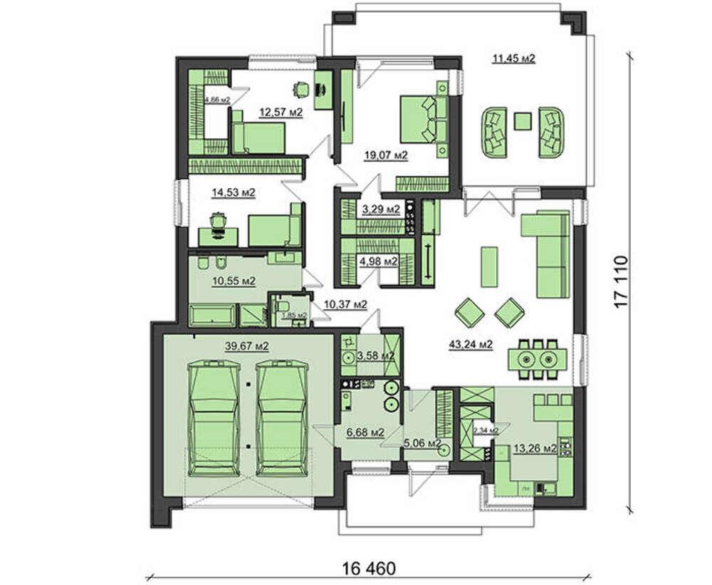 Проект дома 4m7128 план