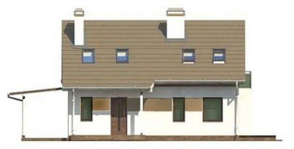 Проект дома 4m198а фасад