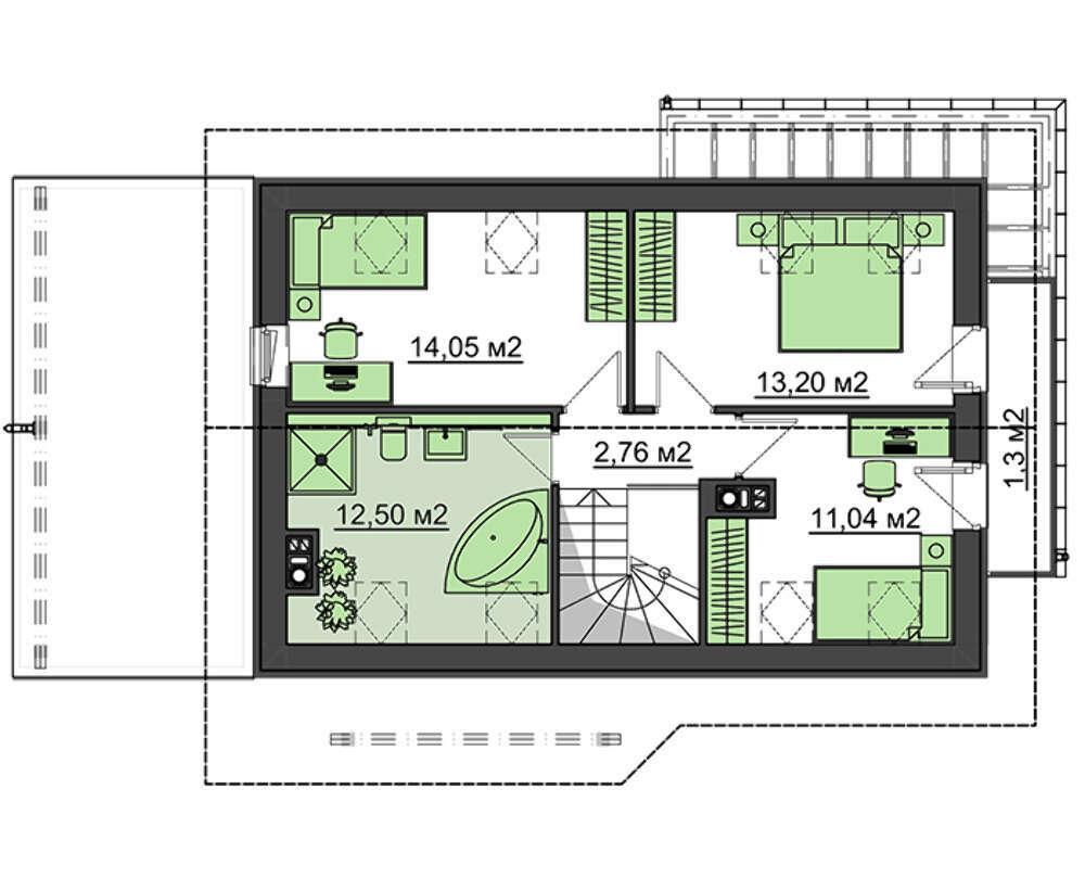 Проект дома 4m198а план
