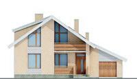 Проект бетонного дома 51-59 фасад