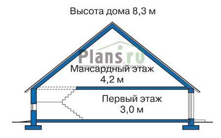 Проект бетонного дома 51-59 план