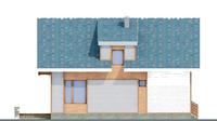 Проект бетонного дома 51-61 фасад