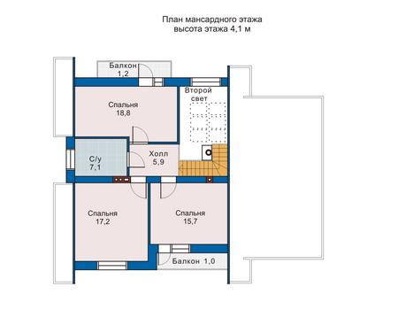 Проект бетонного дома 51-61 план