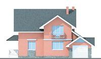 Проект бетонного дома 51-77 фасад