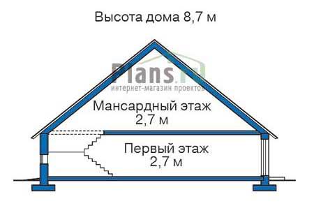 Проект бетонного дома 51-77 план