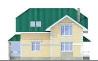 Проект бетонного дома 51-78 фасад