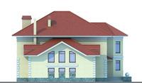 Проект бетонного дома 51-87 фасад