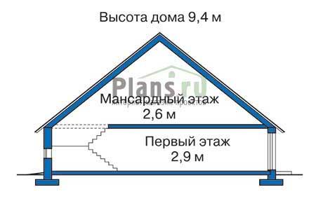 Проект бетонного дома 51-94 план