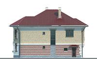 Проект бетонного дома 51-97 фасад