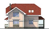 Проект бетонного дома 52-10 фасад