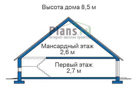 Проект бетонного дома 52-10 план