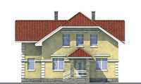 Проект бетонного дома 52-31 фасад