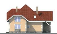 Проект бетонного дома 52-32 фасад